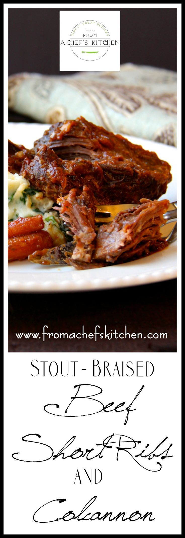 Irish-inspired Stout Braised Beef Short Ribs and Colcannon is the perfect dish for a St. Patrick's Day celebration!
