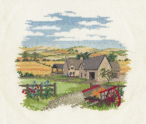 Derwentwater Countryside Series Low Meadow Farm Counted Cross Stitch Kit 16 count aida: Amazon.co.uk: Kitchen & Home