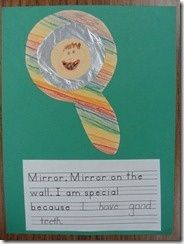 Mirror Mirror on the Wall, I am Special Because...Mirror Craft / Art Project - Great for Pre-K Complete's All About Me theme! Repinned by Pre-K Complete - follow us on our blog, FB, Twitter, & Google Plus!