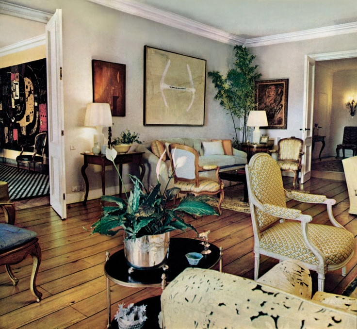 Madrid Living Room Created By Iconic Interior Designer, Billy Baldwin.