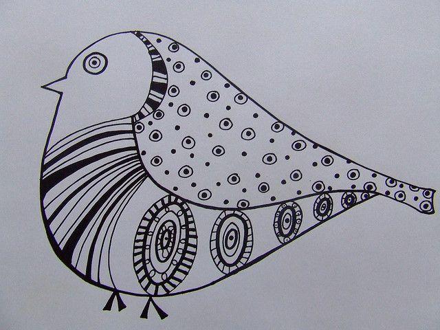 bird drawing by Ninainvorm, via Flickr