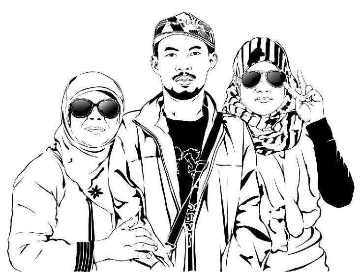 Line Art Wajah : Best images about kerenkali on pinterest line art
