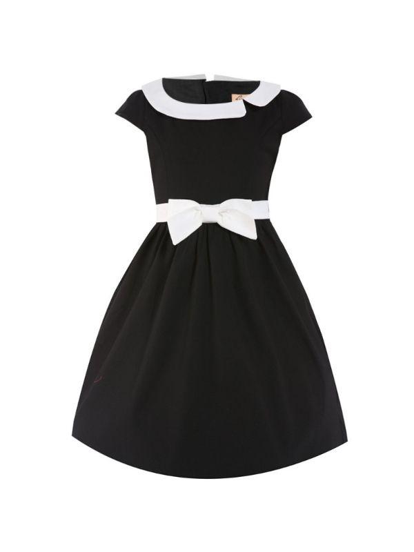 Retro šaty Lindy Bop Mini Chloe Black - dětské