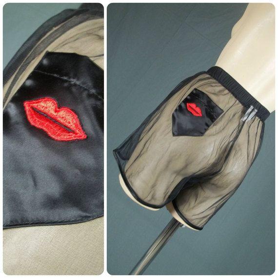 vintage sheer nylon underwear boxers men's briefs by PrissyPanties