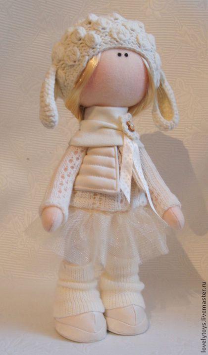 Коллекционные куклы ручной работы. Ярмарка Мастеров - ручная работа. Купить Текстильная кукла. Handmade. Белый, ручная авторская работа