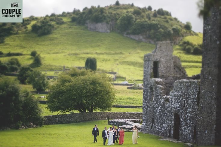 The bridal party at the amazing Fore Abbey in Westmeath. Weddings at Mullingar Park Hotel by Couple Photography.