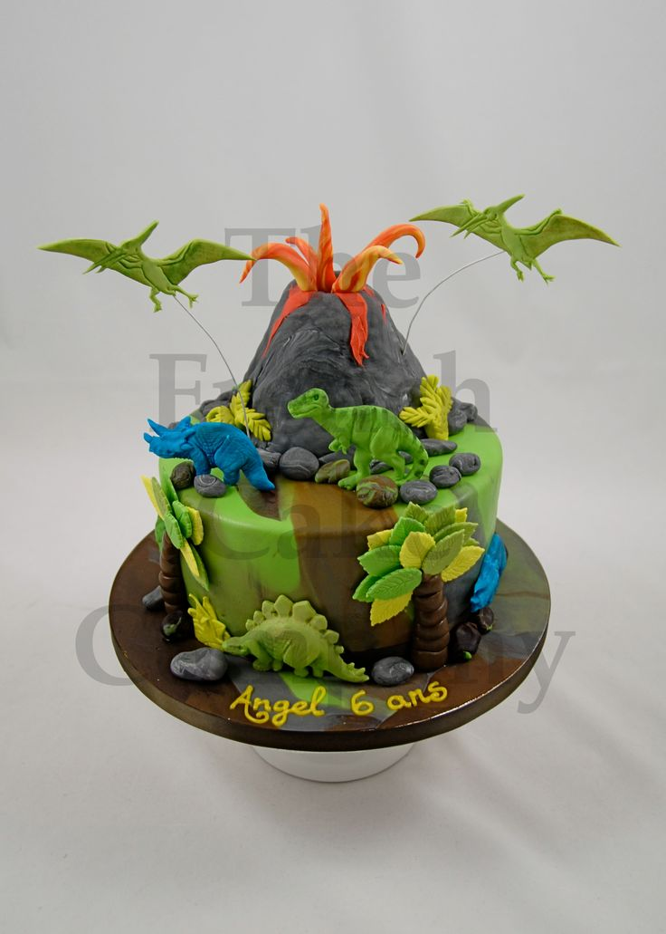 Cake for boys Dinosaur - Gateau D'anniversaire Pour Enfants Garcon Dinosaure - Verjaardagstaart