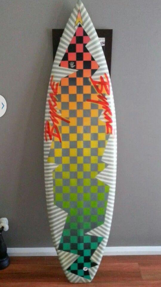 Byrne surfboard early 80s belly channel retro spray !!
