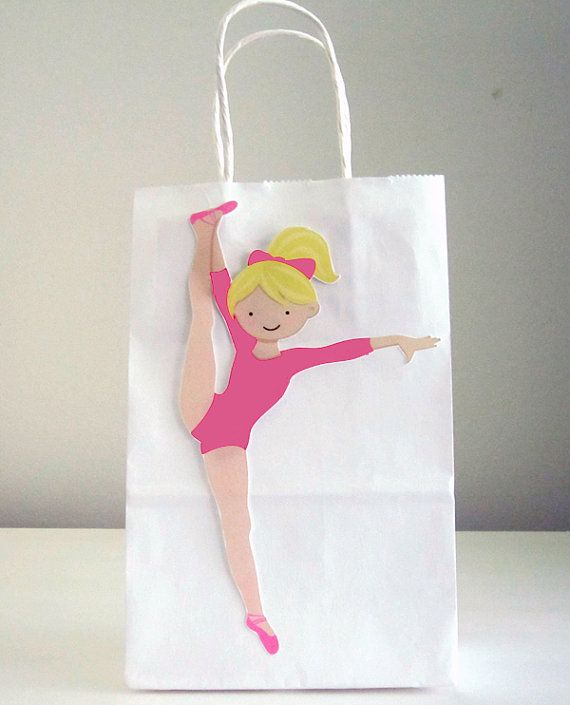 Gymnastics Goody Bags Gymnastics Favor Bags by CraftyCue on Etsy
