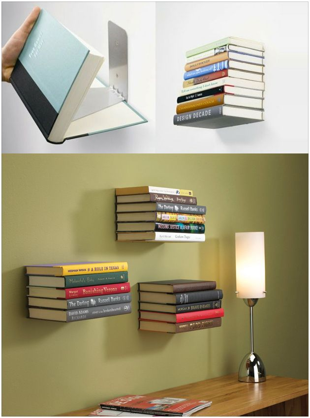 25 best ideas about floating books on pinterest How to make an invisible bookshelf