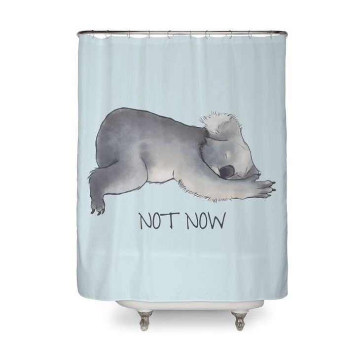 Koala Sketch - Not Now - Lazy animal by #beatrizxe | #Threadless #shower #curtain First illustration from the series Lazy animals with motivational or demotivational phrases (it all depends on your point of view). This time is a sketch of a koala with the statement Not Now #illustration #animal #lazy #koala #sketch #notNow #motivational #demotivational #koalas #australia #cute #beautiful #nature #laziness #sloth #sleep #sleepy #bear #marsupial #adorable #nap #time