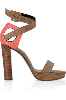 Suede and leather platform sandals by Pierre Hardy: Leather Platform, Pierre Hardy, Platform Sandals