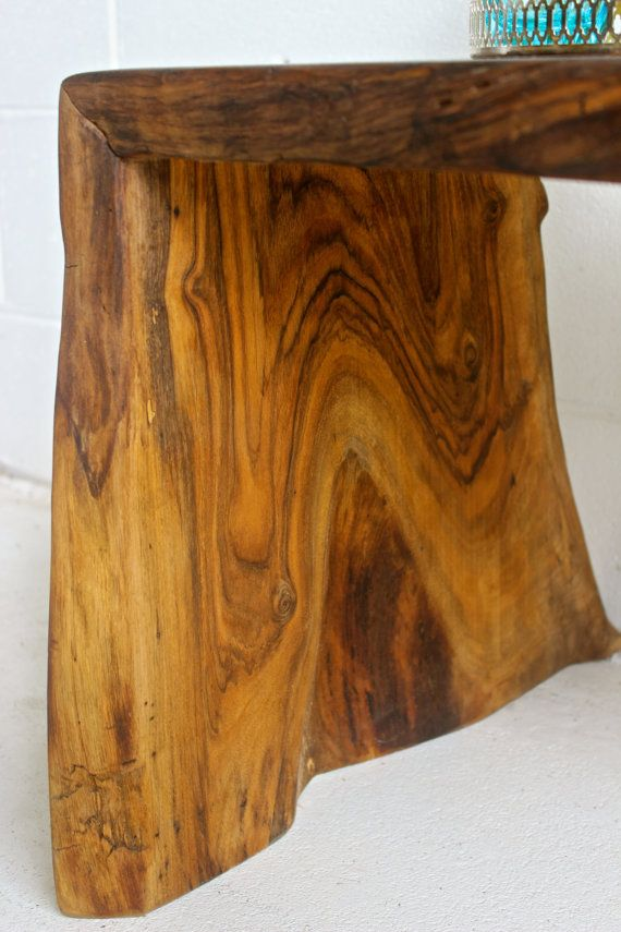how to make a live edge waterfall table