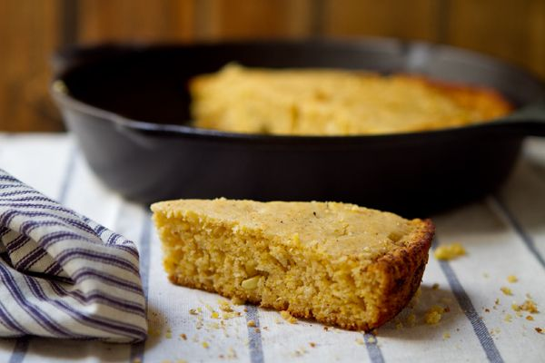 Browned Butter Cornbread - with coarse ground corn meal, fresh (or ...