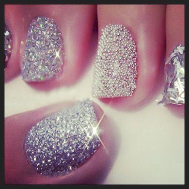 #nails #silvery #beauty