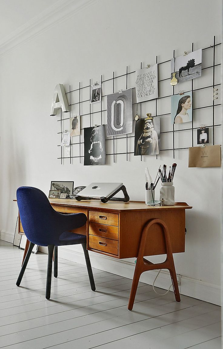 Love the wall decor. Nice desk too - via cocolapinedesign.com