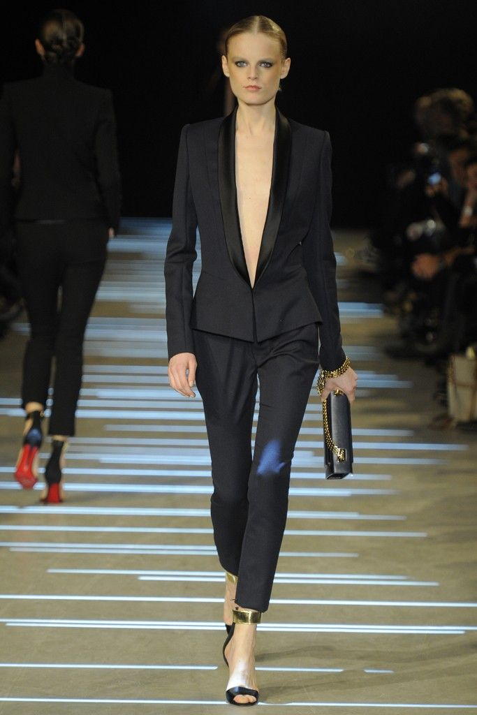 Black pants suit at Alexandre Vauthier Spring Summer Couture 2013 #HauteCouture  #HC #Fashion