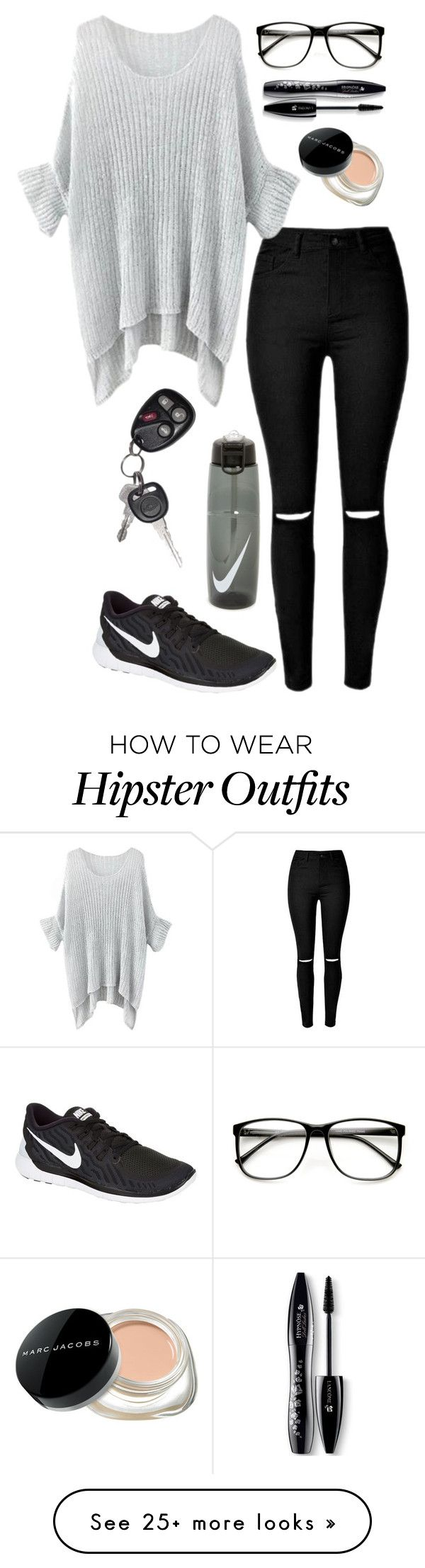 """Untitled #266"" by gummybear77 on Polyvore featuring NIKE, Marc Jacobs, Lancôme, women's clothing, women, female, woman, misses and juniors"