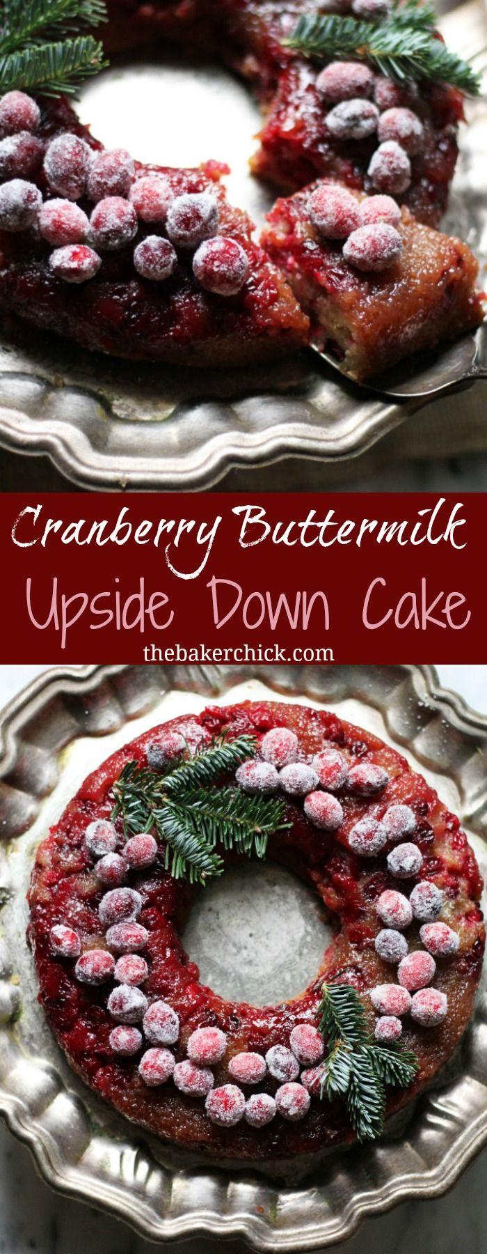 Cranberry Buttermilk Upside Down Cake