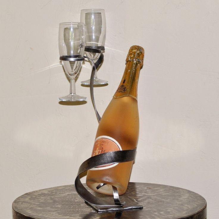 17 meilleures id es propos de porte bouteille sur - Porte bouteille vin fer forge ...