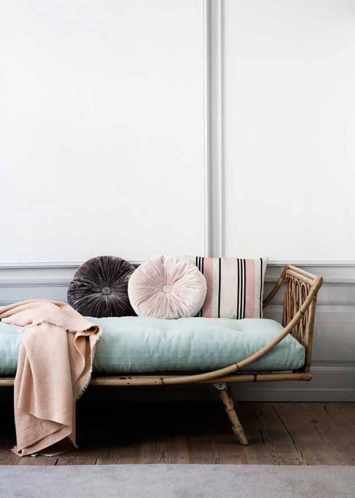 blue daybed