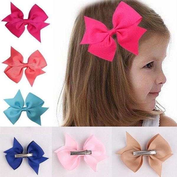 10pcs Baby Girls Hair Bows For Kids Hair accessories Alligator Hair Clips
