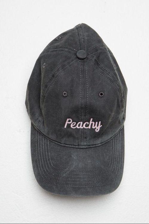 Peachy Ash Black Baseball Dad Hat
