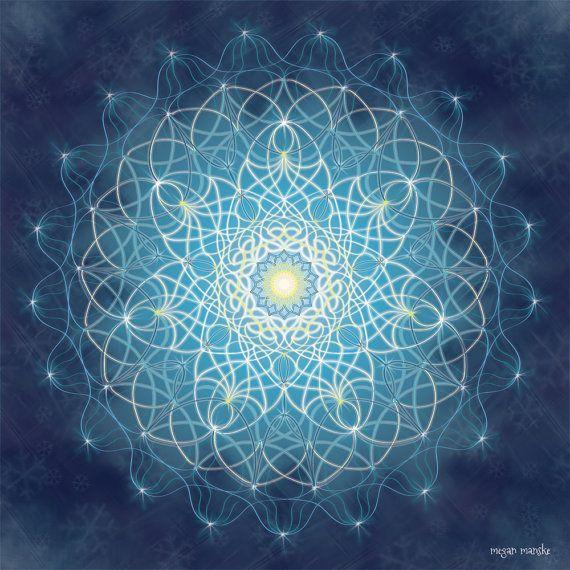Mandala De Solstice D Hiver G 233 Om 233 Trique Art Print
