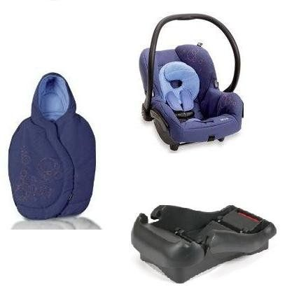 Quinny 2011 Mico Car Seat and Footmuff Set in Lapis Blue. This set includes: 1 car seat and 1 matching footmuff. Car seat features: The Maxi-Cosi Mico Car Seat's lightweight design makes it easy for travel. New Improved Canopy Design New Infant Insert Side Impact Protection Lightweight design Energy absorbing EPP foam Adjustable stay-in-car base 5-point harness with up-front adjustment Compatibility with all Maxi-Cosi and Quinny strollers. Recommended Use: Weight: 5-22 pounds (2.3-10 kg)...