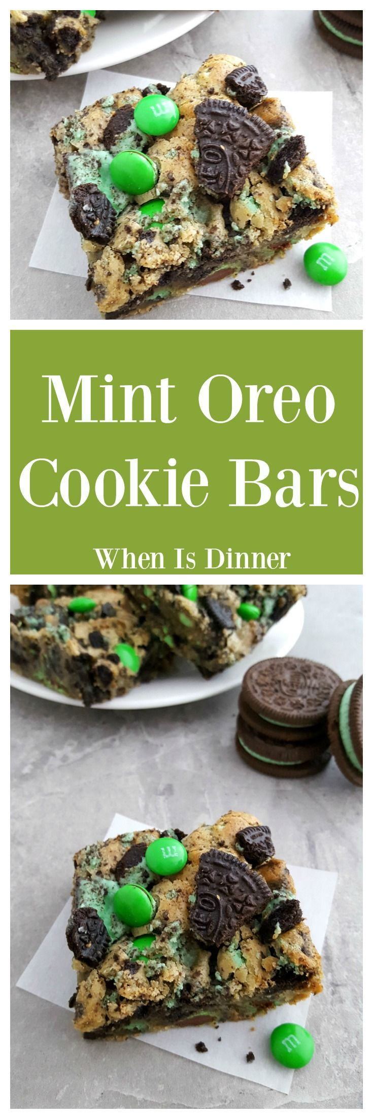Mint Oreo Cookie Bars via @Kdkaren