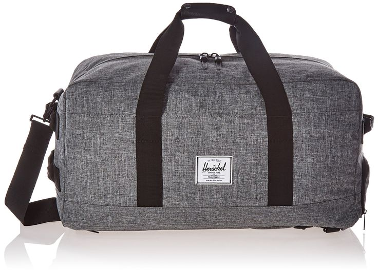 Herschel Supply Co. Outfitter Luggage, Raven Crosshatch/Black Pebbled Leather