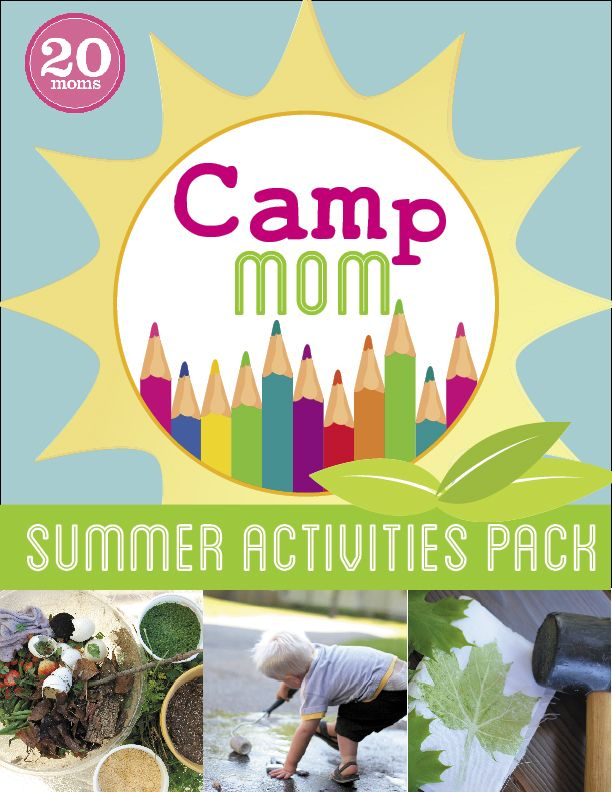 Camp Mom Summer Activities Pack - includes Water, Nature and Art themed activities for kids ages 2-9 as well as summer planning printables, book recommendations and family adventure ideas. $12.99