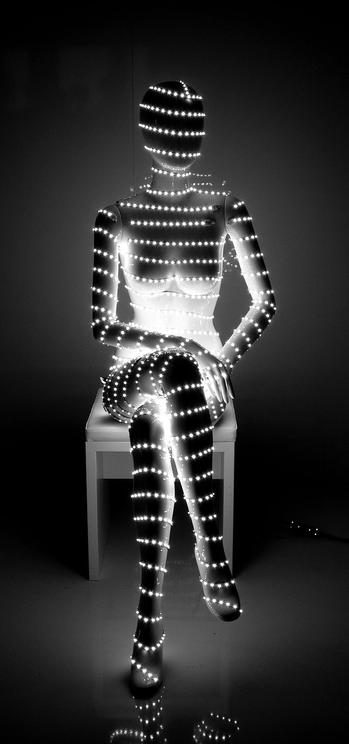 Custom request for glow in the dark display mannequins for C&A's Munich location.