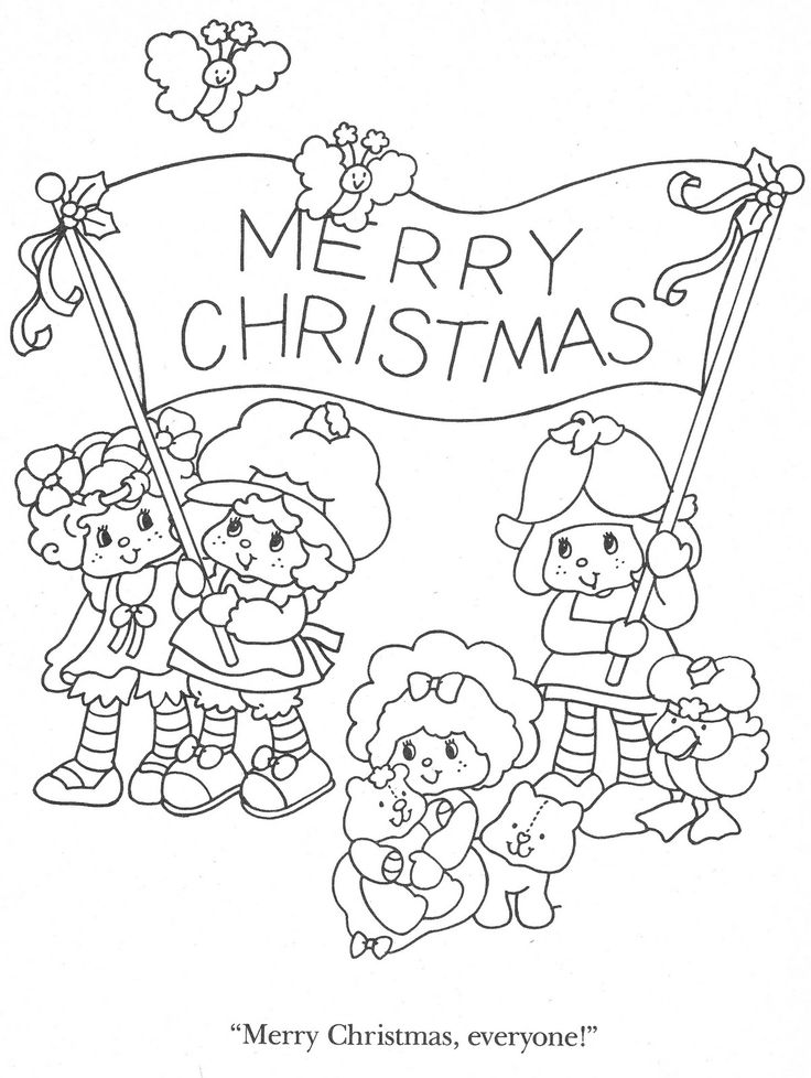 christmas strawberry shortcake coloring pages - photo#12