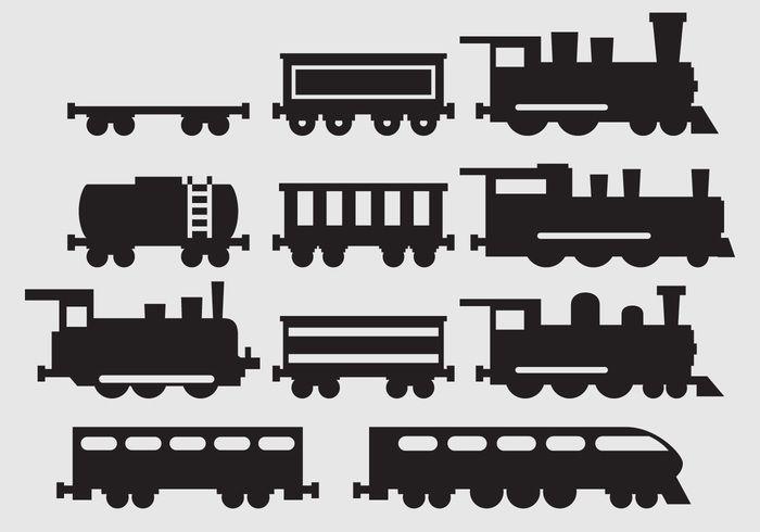 Bildergebnis für silhouette lokomotive