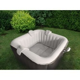 the square inflatable portable hot tub spa seats up to four adults comfortably it has a massaging bubble system with 130 air jets and a - Wayfair Hot Tub