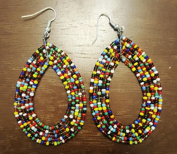 Check out this item in my Etsy shop https://www.etsy.com/listing/505750639/gift-items-beaded-earrings-african