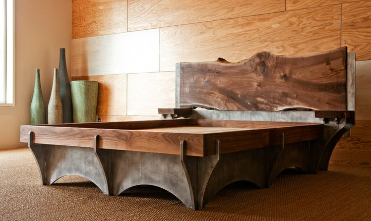 Custom Made Beds Image Gallery: 34 Best Images About Metal And Wood Furniture On Pinterest