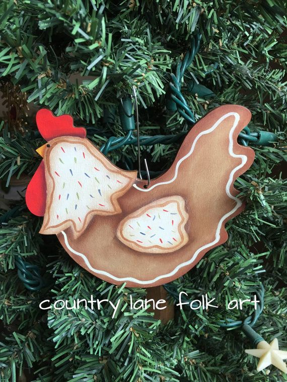 82 best Chicken Ornaments images on Pinterest | Chicken, Christmas ...