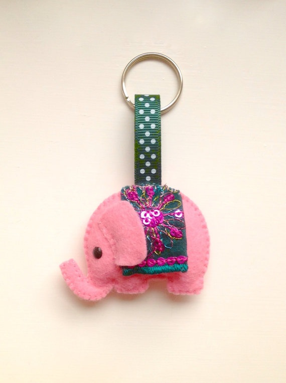 Felt keychain / keyring / bag charm Handmade soft by joojoocraft, £4.50