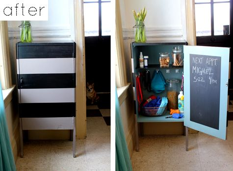 DIY pet supply cabinet (i didn't even know i needed a pet supply cabinet, until now.. fantastic!)