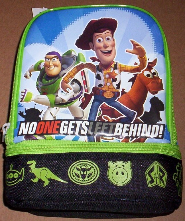 TOY STORY NeW Insulated Blue Lunchbox Boy's Lunch Box Tote Bag NWT BUZZ  WOODY #Disney #LunchBag