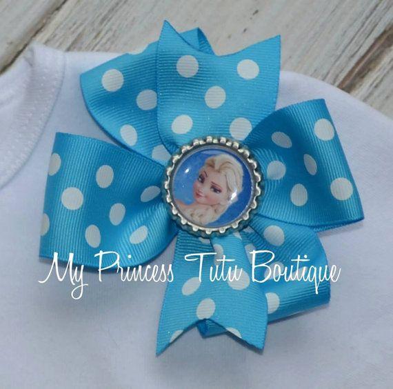 Elsa+Frozen+Bow+Girls+Frozen+Bows+Pinwheel+by+MyPrincessTutuBoutiq,+$8.00