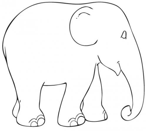 Elephant Printable Template