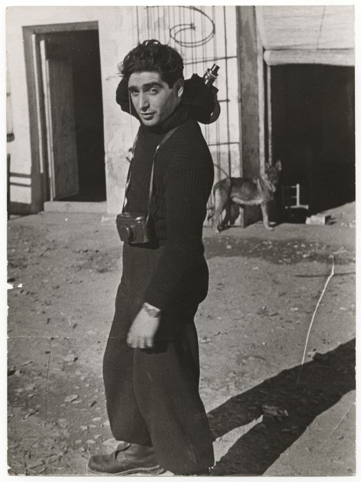 Happy birthday to Robert Capa, born 103 years ago today! Here he is at 23 years old, photographed in Spain by fellow photographer and companion Gerda Taro. He became one of the world's most famous photojournalists of the 20th Century.