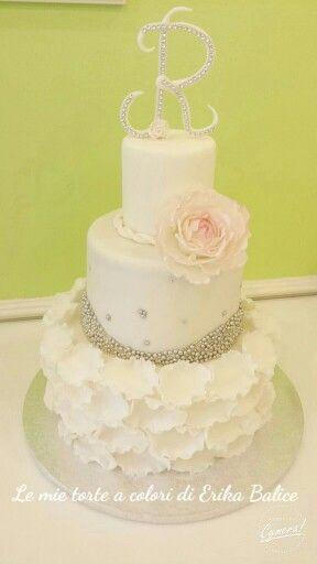 Peony birthday cake / wedding cake