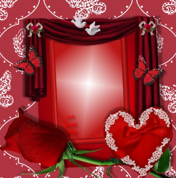 the red rose make a nice ruby wedding anniversary card