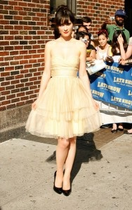 zooey deschannel. she is my style icon. she has a quirky vintage look. no fear.