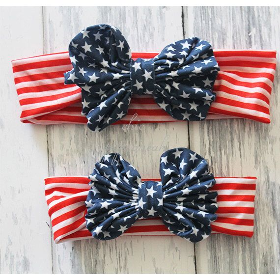 4th of July BABY HEADBAND by ChicPipsqueaks on Etsy https://www.etsy.com/listing/230910610/4th-of-july-baby-headband-baby-headwrap