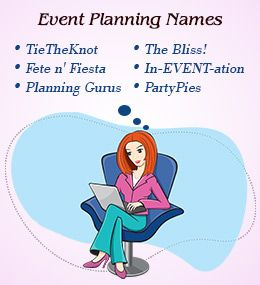 cute names for event planning business